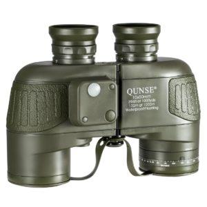 QUNSE Militärisches Nautisches Fernglas 10x50 auf weissem Grund