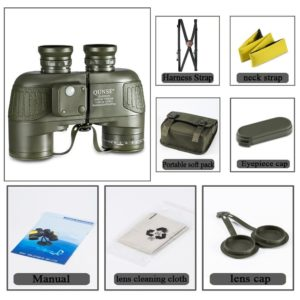 QUNSE Militärisches Nautisches Fernglas mit Zubehör