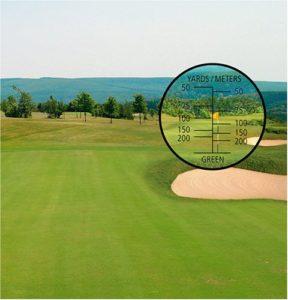 Golfplatz im Visier des Trailite Fernglases