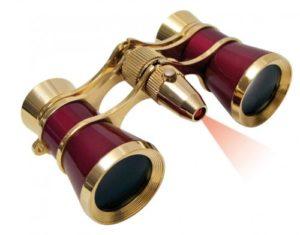 Braun LED Opernfernglas auf weissem Grund