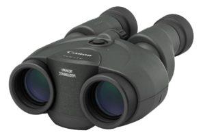 Canon 10x30 IS II Fernglas schwarz auf weissem Grund