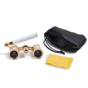Uarter Fernglas mit ausziehbarem Griff Tasche und Putztuch auf weissem Grund