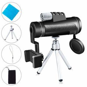 12X50 Monokular Teleskop, PiAEK auf weissem Grund